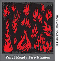 Flames - Vinyl Flames