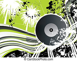 Vinyl graphic for flyer design or for web usage - ...viny...