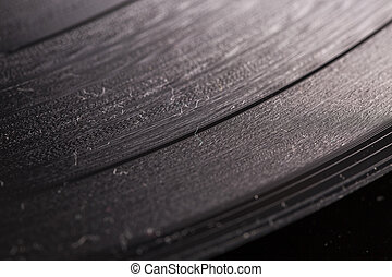 Vinyl in close up