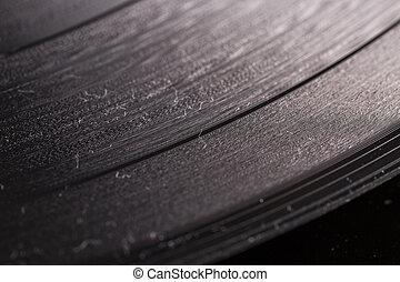 Vinyl in close up