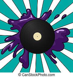 vinyl, knallen, achtergrond