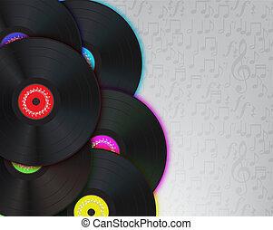 Vinyl Music Background