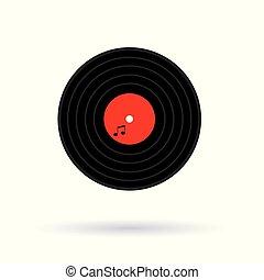 vinyl music record icon- vector illustration