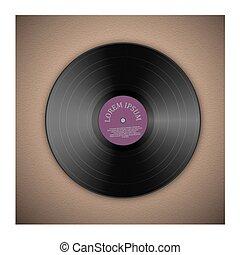Vinyl music record