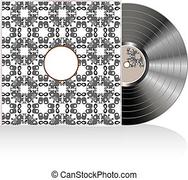 Vinyl on grunge cover background, abstract art