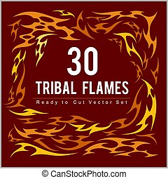Vinyl ready fire flames set. Great for vehicle graphics and...
