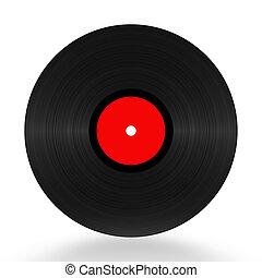Vinyl Record 33 RPM - Vinyl record 33 RPM illustration over...