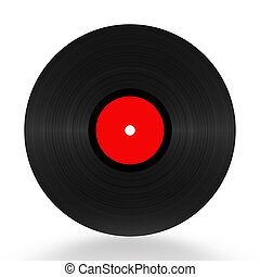 Vinyl record 33 RPM illustration over white