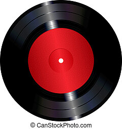 Vinyl record - An illustration of a vinyl record.