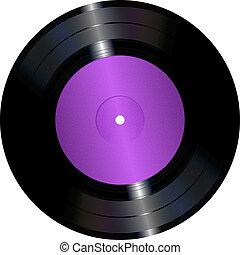 Vinyl record - An illustration of a vinyl record.