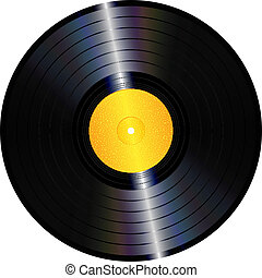Vinyl record - An illustration of an isolated lp vinyl ...