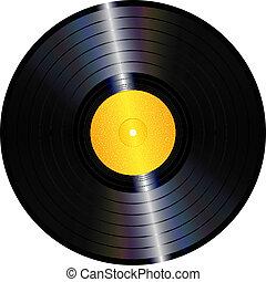 Vinyl record - An illustration of an isolated lp vinyl...