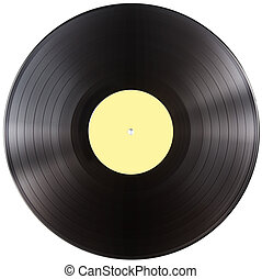 vinyl record disc isolated with clipping path included