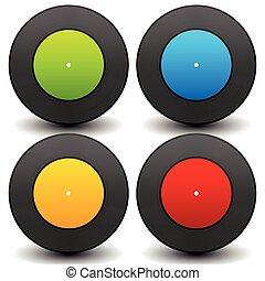Vinyl record graphics. Editable vector, eps 10. Music concept.