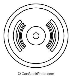 Vinyl record icon, outline style
