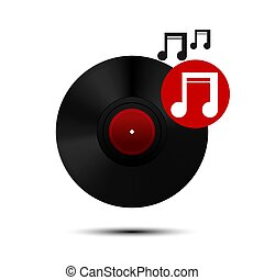 Vinyl record icon. Vector Illustration