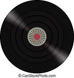 Vinyl record illustration design