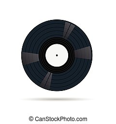 vinyl record illustration vector on white background