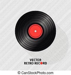 Vinyl record in a flat design