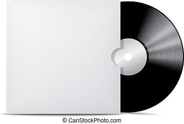 Vinyl record in blank cover envelope.