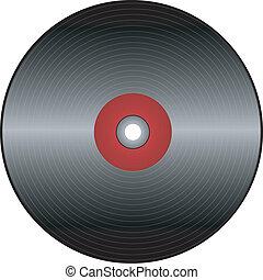 vinyl record in vector