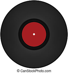 vinyl record isolated on a white
