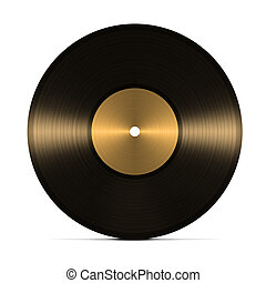 vinyl record. isolated on white background