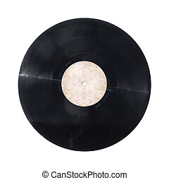 Vinyl record isolated - Vinyl record disc isolated on white