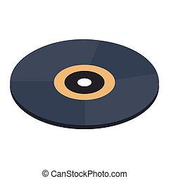 Vinyl record isometric 3d icon
