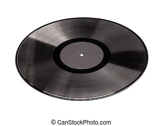 Vinyl record l isolated