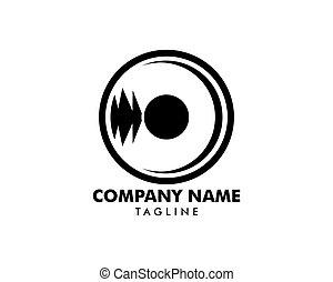 Vinyl Record Logo Template Design Vector