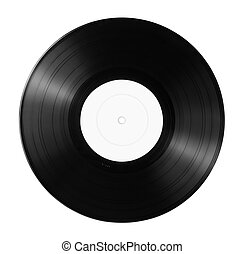 Vinyl record - New vinyl record with empty label isolated on...