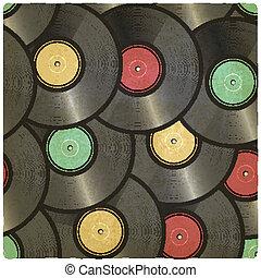vinyl record old background