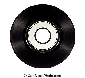 Vinyl Record - Old vinyl record isolated on white background