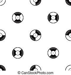 Vinyl record pattern seamless black