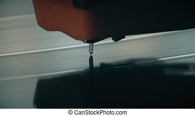 Vinyl record player macro shot - Vinyl record and needle...