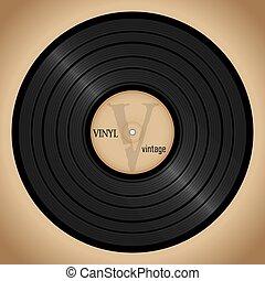 vinyl record, retro background