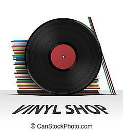 Vinyl record shop cover