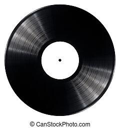 Vinyl record - Black vinyl record isolated on white...