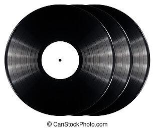 Vinyl record - Black vinyl records isolated on white...