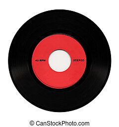 Vinyl record music recording support