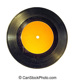 Vinyl record - Old aged vinyl record full of scratches,...