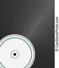 Vinyl Record - closeup view of a vinyl record with empty...