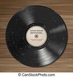 Vinyl record. - Vector illustration of a vinyl record with...