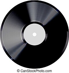 Vinyl record vector illustration.