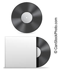 Vinyl record. - Vinyl record in paper case.