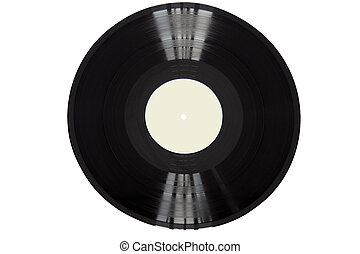 Vinyl Record - Vinyl record isolated on white backgroud with...