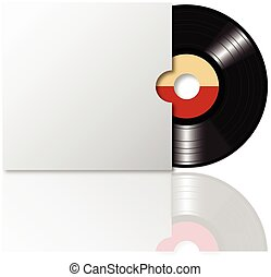 Vinyl record with cover 2