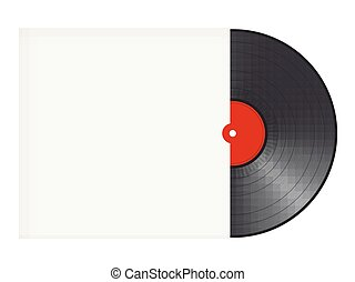Vinyl record with cover with space for text