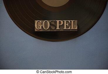 Vinyl record with gospel word